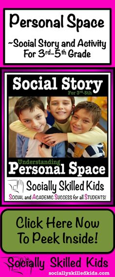 Personal Space Social Story: For 3rd-5th grade.