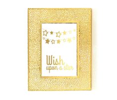 Wish Upon a Star, Gold Print, Bedroom Wall Art, Nursery Poster, Nursery Art