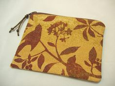 Handmade Coin Purse Zipper Pouch  in Songbird by BagsOfaFeather, $15.00