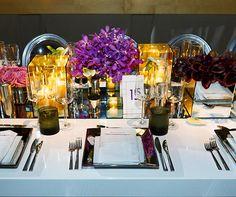 Silver and Purple Wedding, Modern, Chic, Jewish Wedding, Real Wedding || Colin Cowie Weddings
