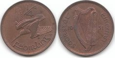 The 1931 Proof Irish farthing is one of the rarest proofs of the Irish series - 5 or 6 that might have been struck. Old Irish, Coin Design, Old Money, Coin Collecting, Childhood Memories, Celtic, Coins, Old Things, Cool Stuff