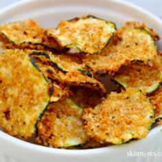 Zucchini Chips...instead of bread crumbs use medifast parmesan bites