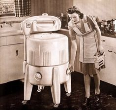 1950s #washing machine sold at #hhgregg! #history  Remember having one of those!!!