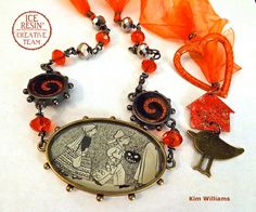 Trick or treat? This necklace was a total treat to create! I was shopping my regular junk venues a few weeks ago and found the cutest Halloween book for young readers. The illustrations were so ado...
