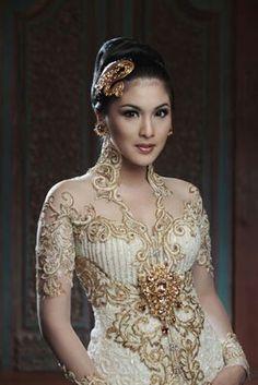 beautiful in kebaya ( traditional dress of indonesia )