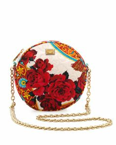 Glam Floral Round Crossbody Bag, Multicolor by Dolce & Gabbana at Neiman Marcus.