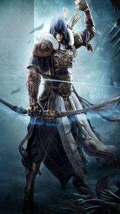 Fantasy Male, Dark Fantasy Art, Anime Fantasy, Fantasy Armor, Medieval Fantasy, Fantasy Art Warrior, Dungeons And Dragons Characters, Dnd Characters, Fantasy Characters