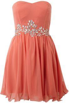 Ax Paris Ax Paris Sleeveless Jewel Chiffon Dress in Pink (coral)