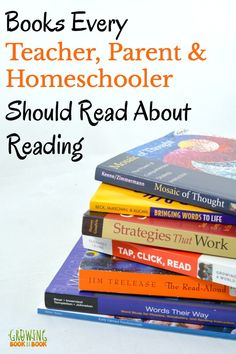 What are the best books to read about reading for teachers, parents, and homeschoolers. This 20 year veteran educator shares the books that have impacted her reading life the most. A great book list for summer reading, staff development, or personal growth.