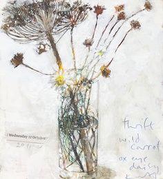 kurt jackson, thrift, wild carrot -- still life painting Kurt Jackson, Botanical Art, Botanical Illustration, Illustration Art, Art Floral, Still Life Flowers, Still Life Art, Flower Art, Painting & Drawing