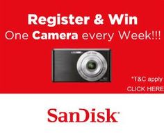 """Register and Win"" Contest from SanDisk"