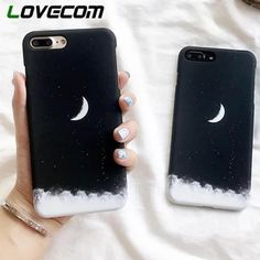 LOVECOM Fashion Star Moon Phone Case For iPhone 6 7 8 Plus X Matte Hard Plastic Vintage Cosmos Space Back Cover Coque - Händyhülle bemalen - Phonecases Art Phone Cases, Diy Phone Case, Iphone Cases, Iphone 4, Apple Iphone, Iphone 8 Plus, Fashion Star, Iphone Bluetooth, Phone Cases
