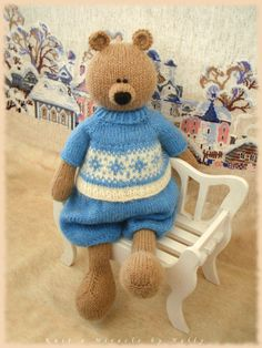 Toy Bear Knitting Pattern /Alex the Sweet Tooth by KnitAmiracle