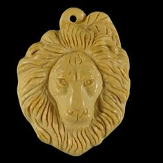 BI28001 100% Natural Hand Carved Gemstone Lion Head by Artiststone