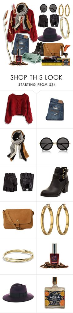 """Skinny Jeans"" by lablanchenoire ❤ liked on Polyvore featuring Chicwish, Abercrombie & Fitch, The Row, Marc by Marc Jacobs, Fat Face, Lauren Ralph Lauren, David Yurman, COVERGIRL and Christys'"