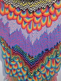 Jen Stark Jen Stark, Art Background, Psychedelic Art, Art Plastique, Art Sketchbook, Cute Wallpapers, Diy Art, Art Inspo, Collage Art