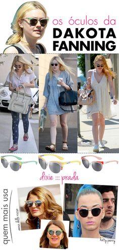 óculos, Dakota Fanning, Prada, Dixie, verão 2012, 2013, retrô, anos 50, anna dello russo, katy perry, streamlining, looks, celebridades,