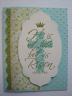HE IS NOT HERE Easter Card Kit (4 cards lot), Stampin Up, religious