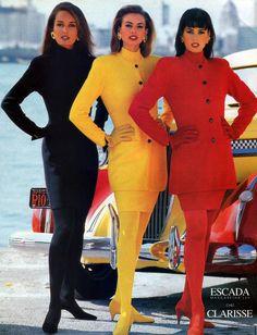 Yasmin Le Bon, Niki Taylor and Gail Elliott for Escada fw 1992