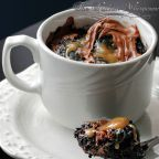 Gooey Brownie Chocolate Mug Cake For One, microwave cake, microwave brownie, dessert for one, sweet cravings, brownies, epicurious