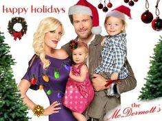 Tori Spellings holiday greetings