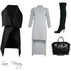 Untitled #1 by sara-elizabeth-feesey on Polyvore featuring polyvore, fashion, style, Rick Owens, Sid Neigum, Jimmy Choo and Givenchy