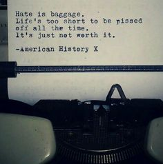 hate is a baggage