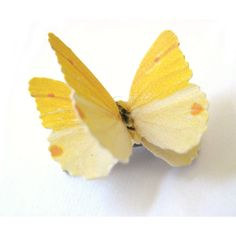 Custom Color Butterfly Hairpiece Yellow Hairpiece Yellow Hair Clip... ($12) ❤ liked on Polyvore featuring accessories, hair accessories, barrettes & clips, gold, alligator hair clips, butterfly hair accessories, barrette hair clip, yellow hair accessories and cat hair accessories