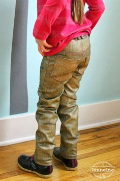 Golden Small Fry Skinny Jeans pattern by Titchy Threads