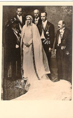 Archduke Anton of Austria-Tuscany and Princess Ileana of Romania Wedding Sinaia, 26 July With the groom's parents and brothers Leopold and Karl Austria, Romanian Royal Family, Anton, Archduke, Royal Weddings, Kaiser, Wedding Gowns, Groom, Royalty