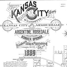 Kansas City Kansas in 1889 Sanborn Map