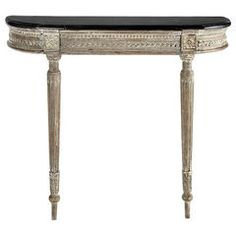 1stdibs Wall Mounting 19c Demilune Console Table Wallmount