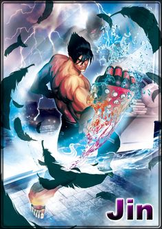 View an image titled 'Jin Kazama Art' in our Street Fighter X Tekken art gallery featuring official character designs, concept art, and promo pictures. Game Character Design, Character Concept, Character Art, Tekken Jin Kazama, Tekken 7, Martial Arts Games, Street Fighter Tekken, Game Concept Art, Fighting Games