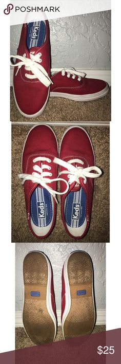Selling this Red Keds Sneakers on Poshmark! My username is: probablyclaire. #shopmycloset #poshmark #fashion #shopping #style #forsale #Keds #Shoes