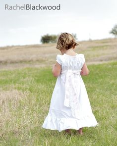 Plain White Cotton Peasant Dress Great for First Communion, Baptism, Beach Photos, and More  6 12 18 24 mo. 2 3 4 5, 6, 7, 8. $29.99, via Etsy.
