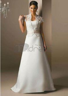 Cheap Wedding Dresses-A-Line/Princess V-neck Court Train Satin Wedding Dresses with Lace Sashes Cheap Wedding Dress, Wedding Party Dresses, Bridal Dresses, Plus Size Wedding Dresses With Sleeves, Traditional Wedding Dresses, The Dress, Silk Dress, Special Occasion Dresses, Beautiful Dresses
