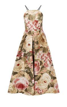 Karen Millen, FLORAL JACQUARD MAXI DRESS Multicolour