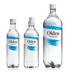 Before & After: Olden Water — The Dieline - Branding & Packaging Design Water Packaging, Bottle Packaging, Bottle Labels, Plastic Packaging, Coffee Packaging, Beer Labels, Design Package, Label Design, Graphic Design