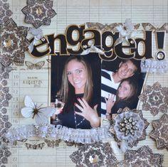 scrapbooking engagement photos - Google Search