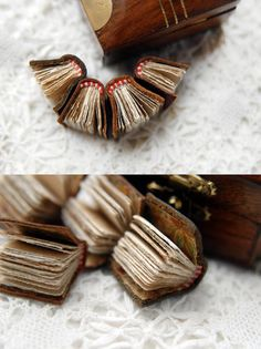La Bibliothèque en Miniature  Four Tiny Leather by bibliographica, $80.00
