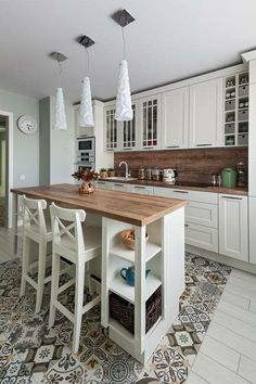 48 suprising small kitchen design ideas and decor 15 - Wohnen - Kitchen Ideas Cozy Kitchen, Home Decor Kitchen, Rustic Kitchen, New Kitchen, Kitchen Interior, Home Kitchens, Kitchen Island, Kitchen Ideas, 10x10 Kitchen