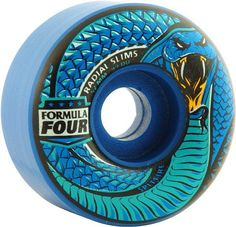 Spitfire Wheels F4 Radials Slim Death Adder 52mm 99a - Blue : These Spitfire F4 Radial Slim Death Adder Skateboard Wheels are made with high quality urethane to provide a smooth ride and optimal perfo
