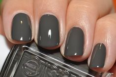 Spaz & Squee Blog: Featuring Essie in Power Clutch! Winner for Fall nails!
