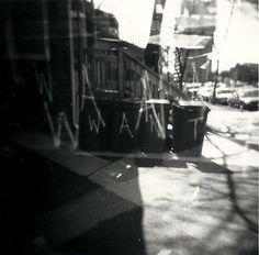 """WANT"" Minneapolis, MN - 2010   * Black and White *  Holga Film Camera *  Deb Carneol Original"