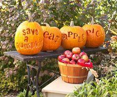 Halloween Pumpkins-save a pumpkin eat apple pie!