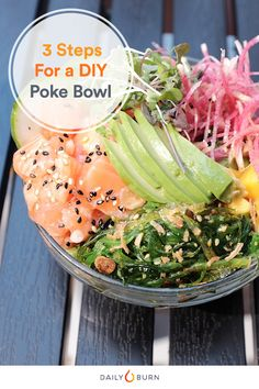 When you want in a poke bowl (without the expensive tab), create your own at home with these easy steps. The delicious, healthy dish takes minutes to make. via @dailyburn