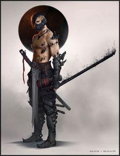 Some Cursed Ninja Guy ), Max Gavr on ArtStation at https://www.artstation.com/artwork/some-cursed-ninja-guy