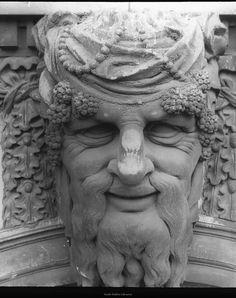 River God sculpture on Custom House, Dublin.