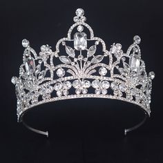 2016 New Big European Bride Wedding Crown Silver Plated Austrian Crystal Large Queen Crown Wedding Hair Accessories HG-G06 * This is an AliExpress affiliate pin.  Locate the offer on AliExpress website simply by clicking the image