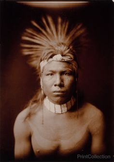 Black Hair, Native American, photographed by Edward Curtis in 1905. Black Hair, head-and-shoulders portrait, facing front.